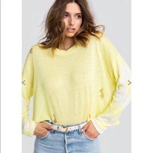Wildfox Daisy Fields Powell Distressed Sweater